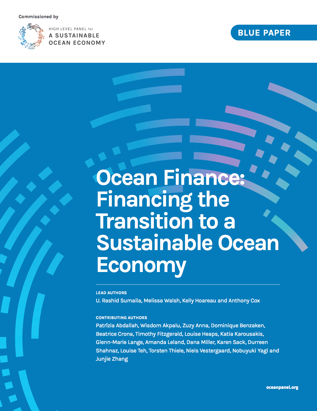 Cover of the report for the blue paper: Ocean Finance